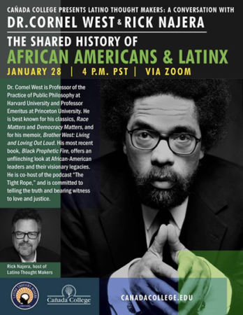 Author and Scholar Dr. Cornel West to Speak at Cañada College on January 28, 2021